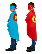 Superhero Costume Kids Boys Girls Fancy Dress Outfit Halloween Party Cape & Mask