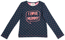 Girls Baby Toddler I Love Mummy Hearts Print Long Sleeve Top 3 Months to 6 Years