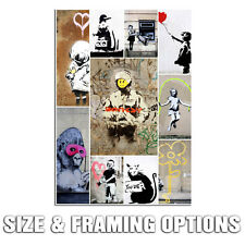 BANKSY COLLAGE MODERN URBAN GRAFFITI STREET ART HIGH QUALITY CANVAS PRINT