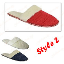 WOMENS LADIES SOFT TERRY  PADDED WARM MOCCASIN TOWELLING SLIPPERS SHOES SIZE3-8