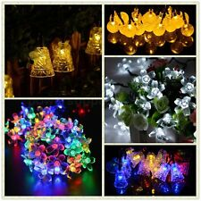 LED Solar Powered Fairy String Lights Garden Christmas Party Outdoor Indoor UK