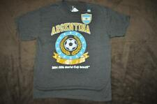Argentina Soccer 2014 FIFA World Cup Brazil Youth Kids T-Shirt Gray See Szs NWT