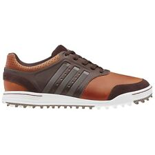 NEW MEN'S ADIDAS ADICROSS III GOLF SHOES TAN/WHITE Q46651 - PICK YOUR SIZE