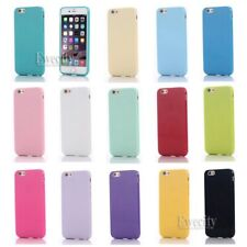 New Soft Silicone Rubber Gel Case Cover For iPhone 6/6S/Plus +Screen Protector