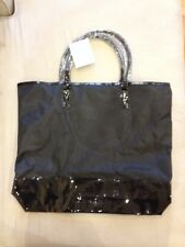 BURBERRY Huge Black Shopper Tote Beach Overnight Bag