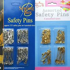 100-125 Sewing Box Assorted Sewing & Craft Safety-Pins