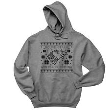 Ugly Christmas Sweater House Stark Mens Hoodie Game Of Thrones Xmas Soft Comfy