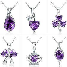 Amethyst Heart Infinity Love Necklaces Mum Gifts for Girlfriend Women Her Wife