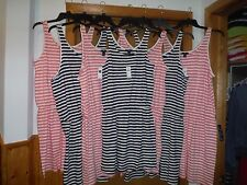 Striped Sleeveless Dresses Gap size XL,LG,MD.SM Navy and Peach Striped NWT