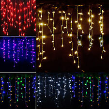 Hanging Snowing Curtain String Lights Lighting Fairy Christmas Xmas Party Decor