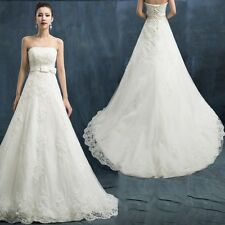 White/ivory Wedding dress Bridal Gown custom Size 2/4/6/8/10/12/14/16/18/20/22++