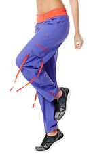Authentic New Zumba Soft-N-Stretch Cargo pants Purple Moon  NWT MSRP $59