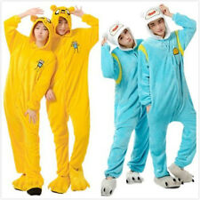Adult Onesie Adventure Time FINN Jake Pajamas Kigurumi Cosplay Animal Sleepwear