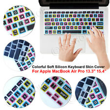"""Colorful Soft Silicon Keyboard Skin Cover For Apple MacBook Air Pro 13.3"""" 15.4"""""""