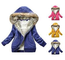 New Women Winter Warm Fleece Lined Hooded Parka Jacket Coat Sweater Outwear Tops