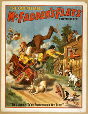 Photo Print Vintage Poster: Stage Theatre Flyer Old Reliable Mcfaddens Flats 04