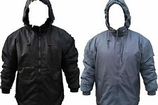 Mens Heavy Fleece Lined Hooded Nylon Windbreaker Jacket Coat New