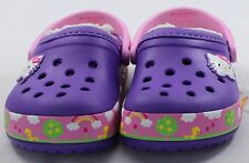 Crocs Hello Kitty At the fair Clogs Neon Purple Lined  Kids Shoes
