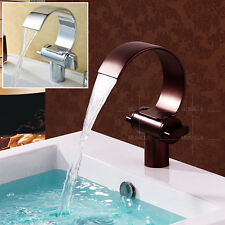Bathroom Basin Sink Faucet Bedroom Waterfall Mixer Tap Chrome &Oil Rubbed Bronze