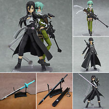 Japanese Anime Figure Sword Art Online Asada Shino Asuna Kirito PVC Action Figma
