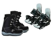 Black Dragon Snowboard Boots & Symbolic Bindings Package + roxy decal Womens 6 7