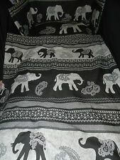 NEW  BLACK ELEPHANTS - MANY SIZES - SPACESAVER,CRIB  COT OR COTBED BUMPER  SET