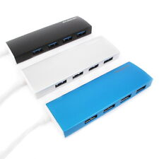 Aluminium Ultra Slim USB 3.0 External 4 Port Hub for PC Mac Laptop