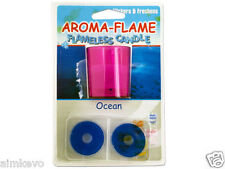Aroma-Flame Ocean Or Citrus Scented LED Flickering Flameless Candle