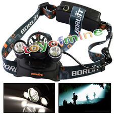 3*6000Lm CREE XM-L T6 LED Bicycle Bike HeadLamp 18650 Headlight Torch Rechargeab