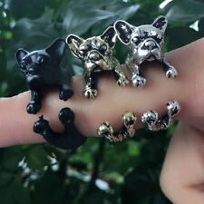 Fashion Cute Dog Ring Pet Antique Vintage Animal Gift Puppy Wrap Adjustable