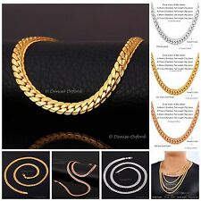 """Stunning Chunky Chain Link Necklace Yellow, Rose Gold Silver 18""""-22""""-26""""-28"""" *US"""