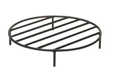 Fire Pit Grate Outdoor Round Steel Firepit Cooking 7 Sizes Bowl Pot Black New
