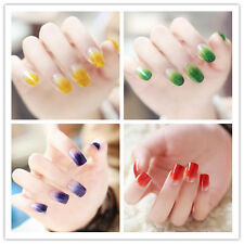 Sparkling Color Gradients Fake Nail Tips Manicure False Nails 24pcs Package