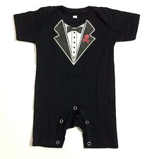 NEW Baby Tuxedo Shirt HALLOWEEN EDITION Costume Onesies Jumper Sizes 0-18 m.o.