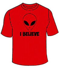 I Believe T-Shirt. Aliens Want To Believe UFO X-Files Funny TShirt Tees Alien