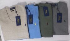 POLO RALPH LAUREN MENS PIMA COTTON V-NECK SWEATER SOLID -NWT