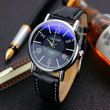 New Arrival ! Luxury Mens-watches Classic Leather Band Analog Quartz Wrist Watch