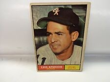 1961 Topps Luis Aparicio Card # 440 Chicago White Sox