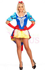 Ladies Costume Fancy Dress Up Snow White Disney  (360) Sz 6,8,10,12,14,16