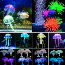 Aquarium Artificial Fish Tank Water Ornament Fake Coral Plant & Jellyfish Decor