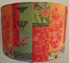 Shabby Chic Lamp Shade,lampshade Oriental Butterfly orange green   Free Gift