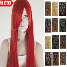 Classical 7 Pieces Clip In Remy Human Hair Extensions Full Head CLEARANCE US C69