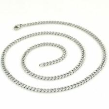 3MM 316L Stainless Steel Silver Curb Necklace Chain