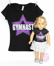 American Girl Doll Clothes -SPARKLE! Matching Girl and Doll Gymnast Star Shirts