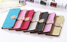 FLIP GLITTER SHINNING BLING PU LEATHER CARD HOLDER CASE FOR iPHONE 6 / 6 Plus
