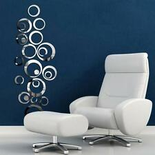 Vogue Removable Circles Mirror Stickers Decal Vinyl Art Wall Creative Home Decor