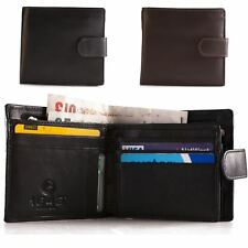 Lichfield 1642 Mens Real Leather Credit Card Holder Wallet Tab Fastener # 2032