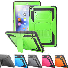 For Apple iPad mini 4 Heavy Duty Shockproof Hybrid Hard Case Stand Tough Cover
