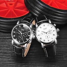 Fashion Mens Automatic Mechanical Watch Leather Calendar Dispaly Wristwatch Gift