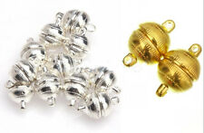 3/10 Sets Round Magnetic Clasps Silver Plated/Gold Plated Free Ship